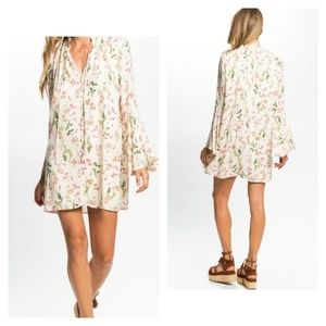 People's Project LA Berry Floral Dress Small
